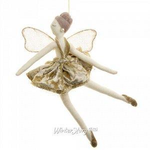 Кукла на елку Фея - Балерина Мария - Мариинские танцы 24 см шампань, подвеска (Due Esse Christmas)