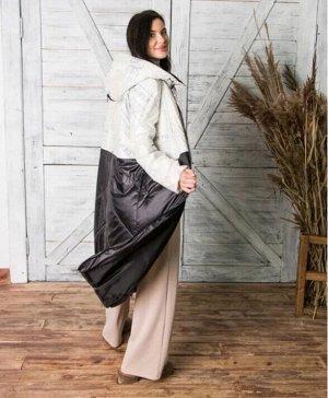 Женское пальто с капюшоном Черный