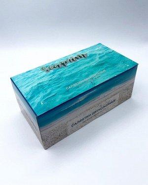 Салфетки бумажные в коробке (синяя) SeaPrim