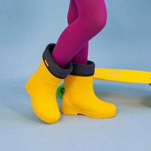 Сапоги детские Nordman Jet со съёмным флисовым утеплителем желтые