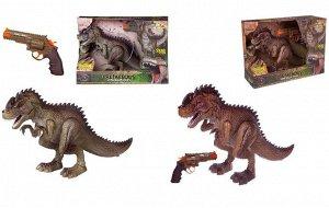 Игровой набор Junfa Охота на динозавра (Тираннозавр и пистолет), на ИК управлении, на батарейках496