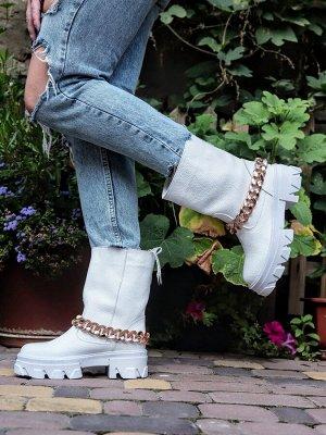 Ботинки Д3 белый зима