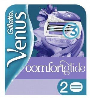 GILLETTE VENUS ComfortGlide Breeze Cменные кассеты для бритья (cо встроенными подуш с гелем) 2шт