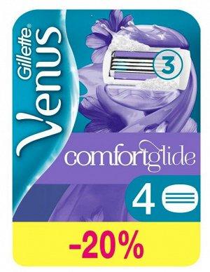GILLETTE VENUS ComfortGlide Breeze Cменные кассеты для бритья (cо встроенными подуш с гелем) 4шт