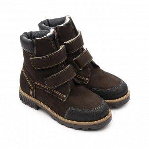 Ботинки детск.шерсть 23013 кожа, КАИР коричневый
