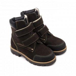 Ботинки детские 23013 кожа, КАИР коричневый