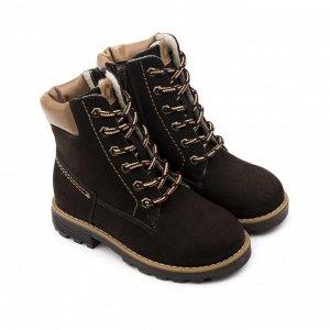 Ботинки детские 23014 кожа, КАИР коричневый