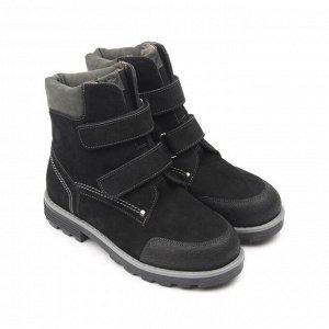 Ботинки детские мех 23013 кожа, МИЛАН черный