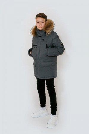 Куртка для мальчика серый