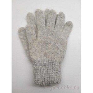 Перчатки женские пуховые, сего-голубые - 403.4