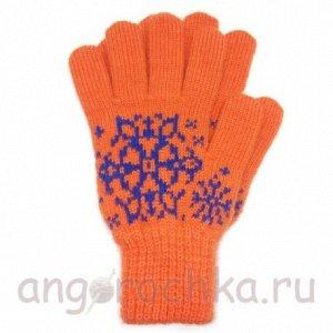 Женские шерстяные перчатки со снежинками - 400.169