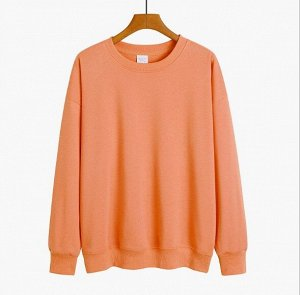 Женский свитшот, цвет оранжевый