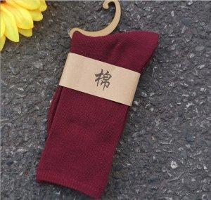 Женские носки, цвет бордовый