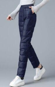Утепленные штаны синие