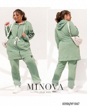 Спортивный костюм №1067-мята