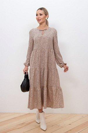 Платье Памела №17. Цвет:бежевый