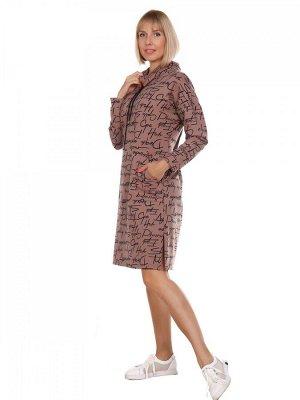 Платье Футер-лайкра Состав: хлопок74% пэ21% лайкра5% Описание: Платье женское прямого силуэта. Рост модели 170см.