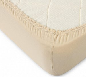 Комплект наволочек для подушки 50*70 см, трикотаж, на молнии (Бежевый)