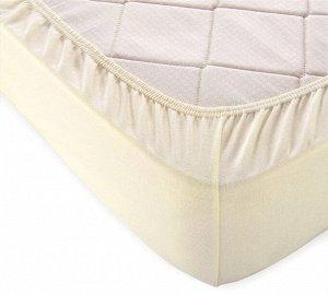 Комплект наволочек для подушки 50*70 см, трикотаж, на молнии (Молочный)