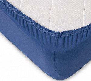 Комплект наволочек для подушки 50*70 см, трикотаж, на молнии (Синий)