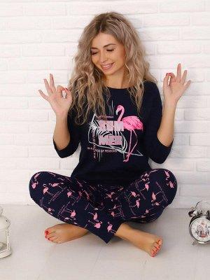 Костюм женский, модель 162, трикотаж (Фламинго)