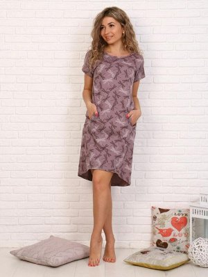 Туника женская, модель 150, трикотаж (Стрекозы, лиловый )