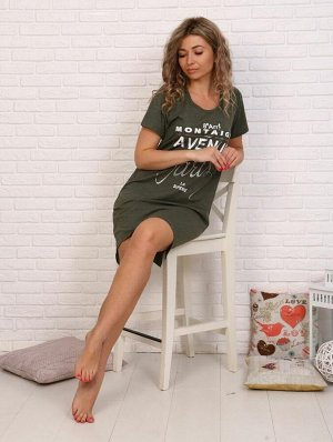 Туника женская, модель 135, трикотаж-меланж (Авеню Монтень, хаки)