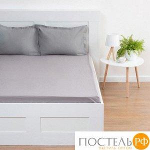 Простыня Этель 220*240 ± 3 см, цв.серый, жатый хлопок, 140 гр/м2, 100% хлопок 7061167