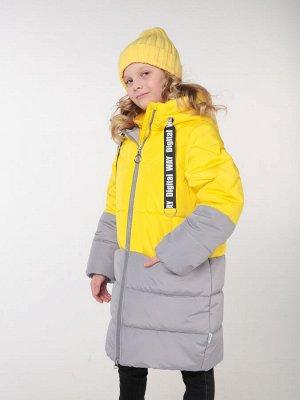 101435/2 (желтый) Пальто для девочки