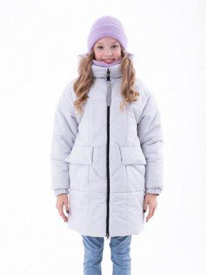 101544/1 (серый) Пальто для девочки