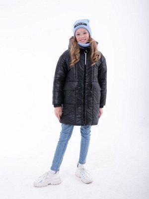 101544/5 (лимонный) Пальто для девочки