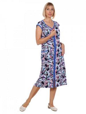 Халат Хлопок 100% Описание: Халат женский на молнии с двумя карманами, приталенного силуэта. Рост модели 170см