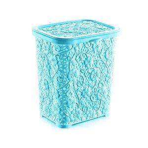 Контейнер для стирального порошка, 6 л, пластик, голубой, АЖУР