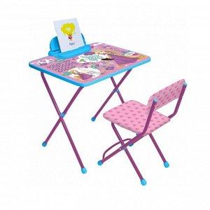 Комплект детской мебели, (стол + пенал + стул мягкий), РАПУНЦЕЛЬ Disney 1