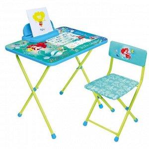 Комплект детской мебели, (стол + пенал + стул мягкий), Disney 4 РУСАЛОЧКА
