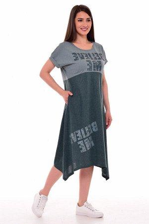 Платье женское 4-081в (зеленый)