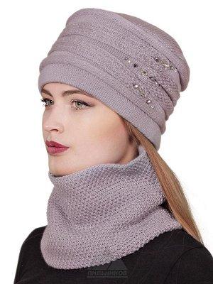 Зимняя шапка в комплекте со снудомДжесси
