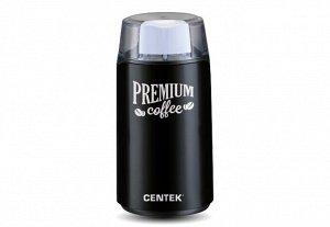 Кофемолка Centek CT-1360 Black (черн) 250Вт, 45 г, 5 ЧАШЕК АРОМАТНОГО КОФЕ, прозрачная крышка
