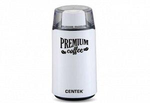 Кофемолка Centek CT-1360 White (белый) 250Вт, 45 г, 5 ЧАШЕК АРОМАТНОГО КОФЕ, прозрачная крышка