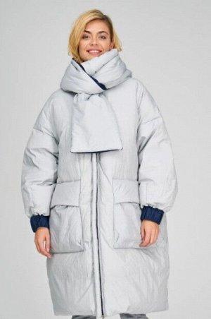 Женское текстильное пальто на натуральном пуху