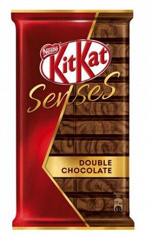 КITKAT® SENSES® DOUBLE CHOCOLATE. Молочный и темный шоколад с хрустящей вафлей 112г