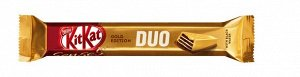 KITKAT® SENSES® GOLD EDITION. DELUXE CARAMEL. DUO Белый шоколад с добавлением карамели и молочный шоколад с хрустящей вафлей 58г