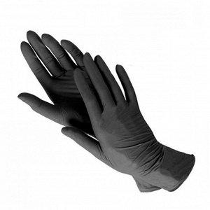 Перчатки нитрил ЧЕРНЫЕ (50 пар/уп)