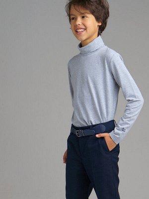 Водолазка Состав: 95% хлопок, 5% эластан Цвет: серый Год: 2021 Водолазка из плотного трикотажного полотна с добавлением эластана для комфортной носки.