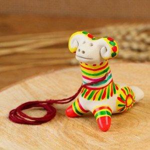 Филимоновская игрушка - свисток «Баран»