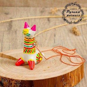 Филимоновская игрушка - свисток «Котик»