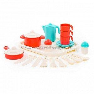 Набор посуды Настенька с подносом на 3 персоны