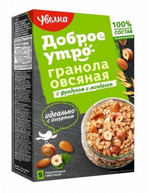 Увелка Гранола овсяная  фунд/миндаль 200г 1/6
