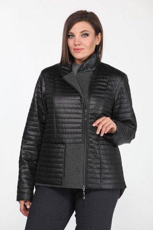 Куртка Куртка Lady Style Classic 2172 черный  Состав: Куртка: ПЭ-30%; Акрил-70%; Подкладка: ПЭ-100%; Сезон: Осень-Зима Рост: 164  Куртка женская, поведневная, из стеганной ткани, на подкладке, прямог