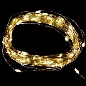"""Светодиодная гирлянда """"Роса"""" / 5м, 50 теплых белых светодиодов / 1 шт. /"""